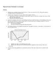 Physical Science Key Worksheet Acceleration (1).docx