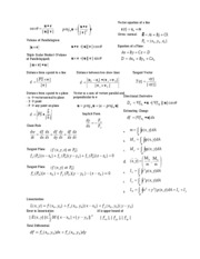 Math 192 Final Exam Cheat Sheet