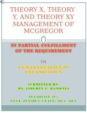 THEORY X, RHEORY Y, AND THEORY.ppt