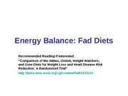 "11:03 - ""Fad"" Diets; Review for Exam 3"
