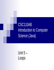 CSC110AB - 05 - Unit 05 - Loops