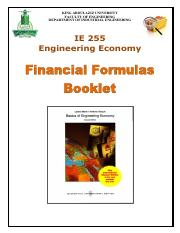 IE255 Formulas Booklet