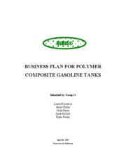Gas Tank-Business Plan