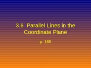 3.6 ll lines in coord plane