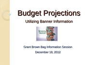 budget-projections power point