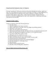 Chapter 6 An Introduction to Viruses Study Guide