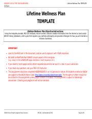 LifetimeWellnessPlan_ExampleofanA - ANONYMOUS EXAMPLE of an A ...