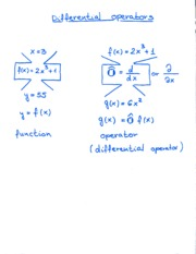 Differential Operators Notes