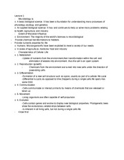 Microbiolgy Lecture Notes Ch. 1-5