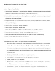 Study Guide 3 Fall 2012