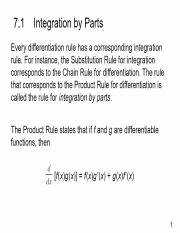 Slide 1 - Calc07_01 Integration by Parts
