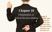 Chapter10-globalzation of ethical desision-making