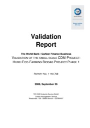 BGD Hubei, China - Validation Report