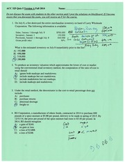 Quiz 5 with solution Fall 2014 chapter 9