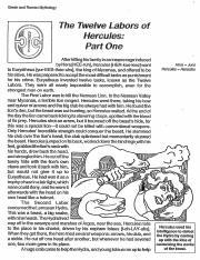 The Twelve Labors of Hercules.pdf - Greek and Roman ...