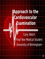 approach-to-the-cardiovascular-examination567-160120085414.ppt