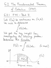 6.2.1 fundemental theorem of calculus ( part 1)