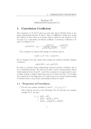 Lecture 12 - Correlation