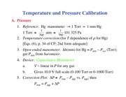 Chemistry 236_Lecture Notes on Temperature and Pressure Calibration