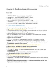 Principles of Economics -Chapter 1