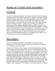 Rules of cricket and rounders Pe work.docx