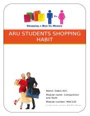 Report-ARU student shopping habit.docx