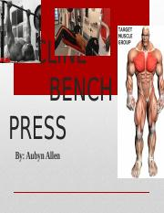 Bench Press project kines