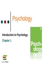 Introduction to Psychology- Chapter 1.pdf
