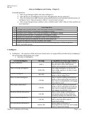 Intelligence Notes