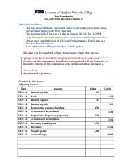 ACCT 220 final exam answer sheet