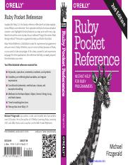 Ruby Pocket Reference, 2nd Edition
