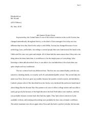 4th Quarter Project Essay.docx