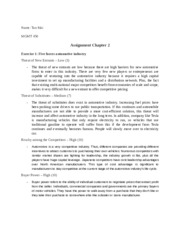 MGMT 450 - Assignment Chap 2, ex 1