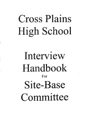 Cross Plains Interview Manual