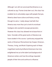 Essay on Culture and History