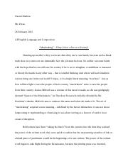 AP English Language and Composition First Argumentative Essay.docx