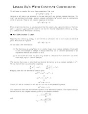 ConstantCoefficients