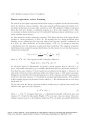 lec5 Linear regression, estimator bias and variance, active learning