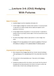 L3-4 Ch3 Hedging Futures