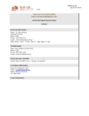 GENG360 Engineering Economics Syllabus Spring 2012