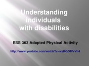 Student Project: 363UnderstandingDisabilities