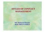 Style of Conflict management