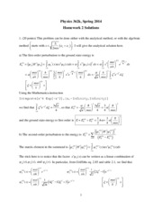 Phys 362k 2014 HW2 Solutions