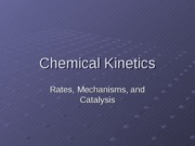 1Chemical Kinetics