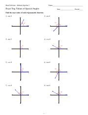 Exact Trig Values of Special Angles