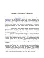 Philosophy and History of Mathematics.docx
