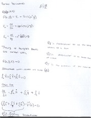 Theory of Tangent Planes and Normal Lines