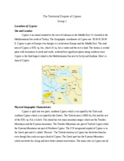 Unifying Territory in Cyprus, Group 1