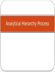 week_13&14_Analytical_Hierarchy_Process_IE398