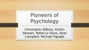 Pioneers of Psychology Team B wk5
